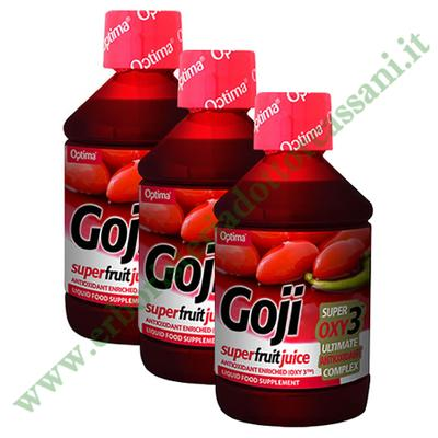 Vendita Succo di Goji Frutto 500 ml di Optima Naturals